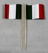 Party-Picker Italien 50 Stk. Profiqualität Dekopicker Papierfähnchen Food Flagge