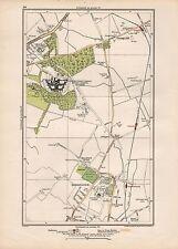 1923 LONDON STREET MAP - GRANGE HILL,CLAYBURY HOSPITAL, BARKINGSIDE,