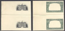 Panama 1915, 3c Palace, Proofs center+frame in Gutter Pairs, archival,Rrr #209