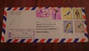 VENEZUELA 1964 AIRMAIL REGISTERED COVER to CZECHOSLOVAKIA,BIRDS FROM SET of 1962