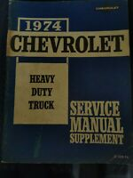 1974 Chevrolet Heavy Duty Truck Shop Service Manual Supplement