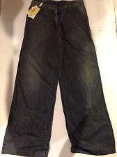 NWT Versace Wide Leg Denim Jeans Pants Size 30 X 44