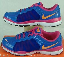 New Womens 9.5 NIKE Flex Trainer 2 Blue Pink Running Shoes $80