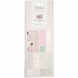 Decoupage Paper 8 sheets Many Design Packs 25cm x 35cm