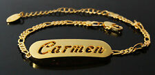 CARMEN - Bracelet With Name - 18ct Yellow Gold Plated - Gifts For Her - Fashion