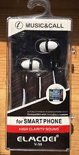 Earbuds Earphone Headset with Remote Mic for Phone SmartPhone Compatible White