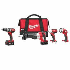 Milwaukee 2696-24 M18 18V Cordless Power Lithium-Ion 4-Tool Combo Kit