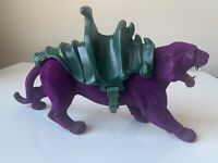 1981 PANTHOR Purple Panther MOTU He-Man Masters of the Universe Complete Cleaned