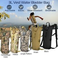 3L Water Bladder Bag Military Hiking Camping Tactical Hydration Backpack Pack US
