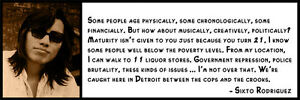 Wall Quote - Sixto Rodriguez - Some people age physically, some chronologically,