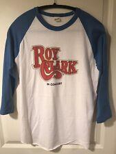 Vintage 1980s Roy Clark Baseball Tour Shirt Large