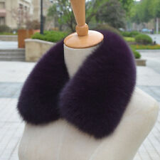 Real Vulpes lagopus Fox Fur Collar Women Scarf Camel Wrap Furry Neck WinterColor
