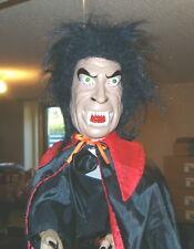 "Animated Flying Dracula Vampire Lights Shaking Eerie Music 20"" Long"