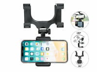 Car Rear View Mirror Mount Smartphone Stand Holder Cradle For Mobile Phone