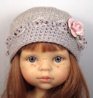 """""""SILVER DOTTY"""" OOAK Hat only for 13"""" Paola Reina Las Amigas clothes"""