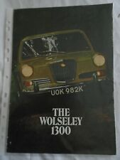 Wolseley 1300 range brochure Dec 1971 ref 2852/A