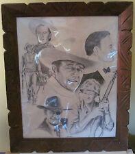 1979 'The Duke' John Wayne Framed Print, Bill Markowski