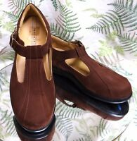 ARAVON BROWN SUEDE LEATHER LOAFERS SLIP ONS DRESS WALKING SHOES US WOMENS SZ 9 B