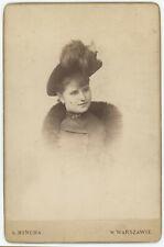 6 cabinets circa 1880. Femmes et enfants à Varsovie. Warszawie. Poland. Pologne.