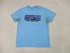 Patagonia Shirt Adult Large Blue Orange Mountain Climber Hiking Outdoors Men A43