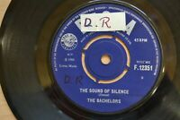 "THE BACHELORS   THE SOUND OF SILENCE    7"" SINGLE  DECCA RECORDS  F 12351  1966"