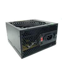 600 Watt 600W ATX Power Supply SATA 120mm Silent fans for Intel AMD PC Source