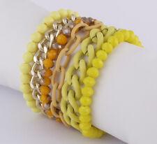 Schrilles sweet deluxe Trend Armband Delany Acryl- & Glasperlen gelb gold topaz