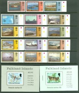 EDW1949SELL : FALKLANDS 2 Insect Bklts & Cplt Defin set to the £3 value. VF, MNH