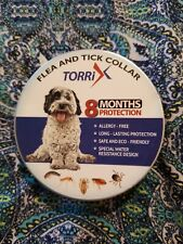 New listing Torrix Dog Collar - 12-Month Flea Medicine, Adjustable, Water Resistant - 1 Pack
