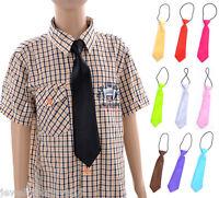 1 Kinder Jungen Schlips Krawatte Tie zum Hemd Unifarbe 28x6.8cm