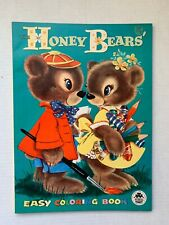 VINTAGE - Honey Bears Coloring Book - Merrill 1956 UNUSED