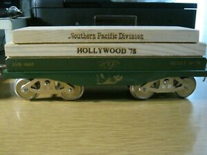 McCoy Standard gauge train ultra rare HOBO TTOS S. P. Hollywood lumber car HOBO