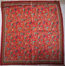 -JOLI grand  Foulard   soie  TBEG  vintage scarf  106 x 110 cm