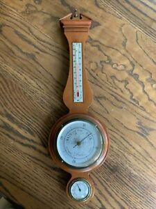 Vintage Airguide Banjo Style Weather Station Barometer, Thermometer, Hygrometer