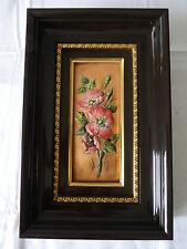 Tableau Emaux de LIMOGES André BUREAU les roses sauvages