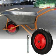 Schubkarre Schubkarrenreifen Ersatzrad pannensicher inkl. Achse für Bollerwagen