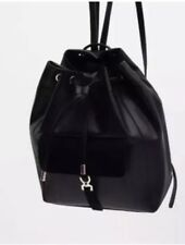 Zara Black Backpack With Suede Leather Details BNWT