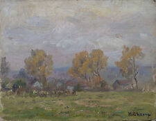 HENRY MARIE CHARRY TABLEAU PAYSAGE CIRCA 1920 PEINTRE LORRAIN / OEUVRE RARE