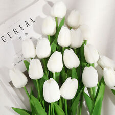 10pcs Artificial Tulip Flowers Fake Flower Bouquet for Wedding Party Home Decor