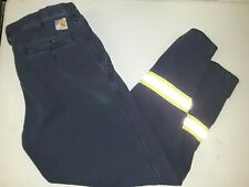 2 Carhartt FR Navy Blue Pants 371-20 VG Condition Relaxed Fit 34X34