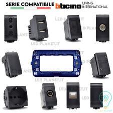 SERIE BTICINO FRUTTI LIVING INTERNATIONAL COMPATIBILE PRESA SCHUKO PULSANTE USB