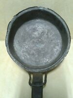ANTIQUE COPPER HAMMERED BRASS FLARE HANDLE CHAFING COOK PAN POT