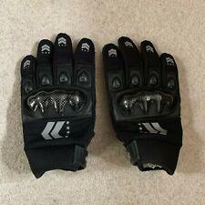 North Skin men's armoured motorcycle gloves in black/grey - medium size - new