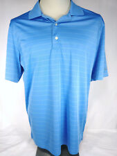 Mens Greg Norman Play Dri Golf Shirt M Blue ML75 Shark