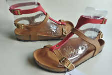 new TATAMI BIRKENSTOCK Leather Sandals VARNA EXQ Rust-Red EU37(38) US6.5 UK4.5