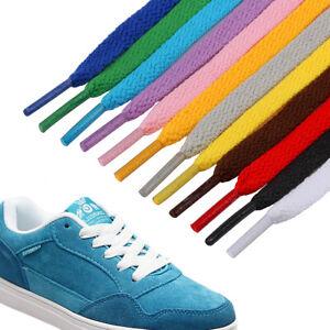 Shoe Laces Flat Tie Shoe Laces Boots Trainers Shoes Black White or Colour Laces