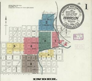Harrison, AR,  Arkansas~Sanborn Map© sheets ~CD~in full color~1897 to 1923-PDF s