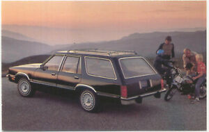 Ford Fairmont Wagon 1978 original Postcard