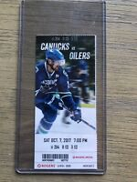 2017-18 Vancouver Canucks NHL Official Mint Ticket Stubs - pick any game!