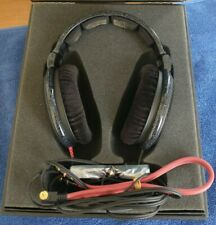 600 HD Sennheiser Open Back Metal Mesh Headphones with Box and Accessories